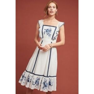 Anthropologie Dresses - Anthropologie FARM RIO GALATEA EMBROIDERED DRESS
